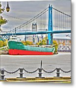 James M Schoonmaker And The Hi-level Bridge Metal Print