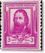 James Russell Lowell Postage Stamp Metal Print
