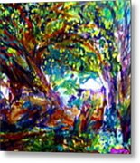 Jamjuree Trees Metal Print