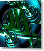 Jammer Blue Green Flux 001 Metal Print