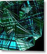 Jammer Swirling Emeralds  Metal Print