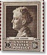 Jane Addams Postage Stamp Metal Print