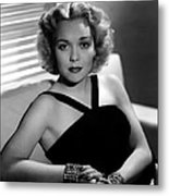 Jane Wyman, 1940 Metal Print by Everett