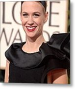 January Jones At Arrivals For The 67th Metal Print by Everett