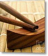 Japanese Chopsticks Metal Print
