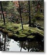 Japanese Garden At Saihoji Temple Metal Print