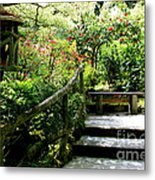 Japanese Garden Retreat Metal Print