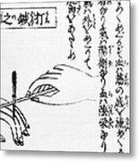Japanese Illustration Of Moxa Metal Print
