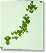 Japanese Islands Made Of Heart-shaped Leaves (ecology Image) Metal Print