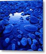 Jasper - Blue Boulders Metal Print