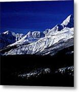 Jasper National Park In Winter Time Metal Print