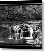 Java Falls Monochrome Metal Print