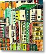Jazz City Metal Print