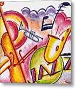 Jazz Deco Metal Print