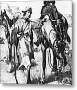 J.c. Fremont And His Guide, Kit Carson Metal Print