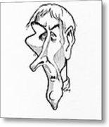 Jean Lamarck, Caricature Metal Print