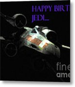 Jedi Birthday Card Metal Print