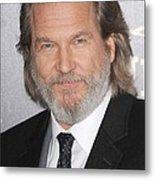 Jeff Bridges At Arrivals For True Grit Metal Print