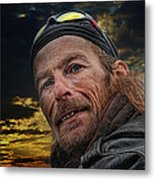 Jeff On The Bridge Metal Print
