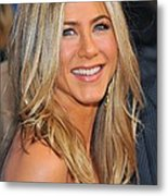 Jennifer Aniston At Arrivals For Just Metal Print by Everett