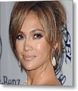 Jennifer Lopez At Arrivals For 32nd Metal Print