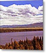 Jenny Lake Panorama Metal Print