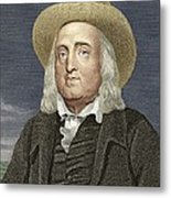 Jeremy Bentham, British Philosopher Metal Print by Sheila Terry