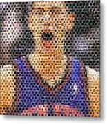 Jeremy Lin Mosaic Metal Print by Paul Van Scott