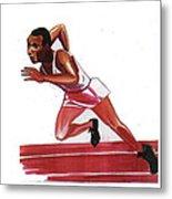 Jesse Owens Metal Print