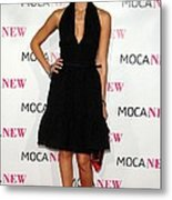 Jessica Alba Wearing A Prada Dress Metal Print by Everett