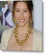 Jessica Biel At Arrivals For Planet 51 Metal Print