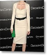 Jessica Chastain At Arrivals Metal Print