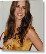 Jessica Lowndes At Arrivals For The Metal Print by Everett