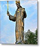 Jesus Christ Statue Metal Print