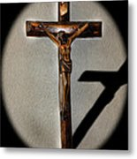 Jesus Crucified Metal Print