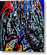 Jesus Meets Mary On Calvary Metal Print