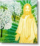 Jesus On Mount Thabor Metal Print