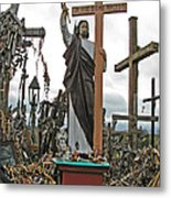 Jesus On The Hill Of Crosses. Lithuania Metal Print