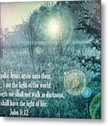 Jesus The Light Of The World Metal Print
