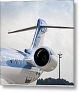 Jet Airplane Tail Metal Print