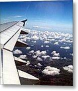 Jet Blue Takeoff Metal Print