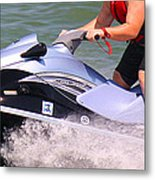 Jet Ski Speed Metal Print
