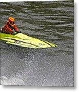 Jetboat In A Race At Grants Pass Boatnik Metal Print