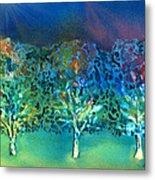 Jeweled Trees Metal Print