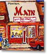 Jewish Montreal Vintage City Scenes The Main Rib Steaks On St. Lawrence Boulevard Metal Print