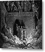 Jews In Fiery Furnace Metal Print