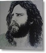 Jim Morrison Last Year Of Life Metal Print