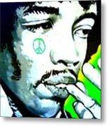 Jimi Hendrix Metal Print by Randall Weidner