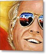 Jimmy Buffet At The Jazz Fest Metal Print by Terry J Marks Sr