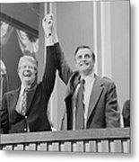 Jimmy Carter And Walter Mondale Metal Print
